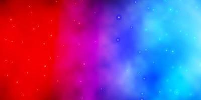 blauwe en rode textuur met prachtige sterren.