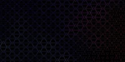 blauw en rood geschetst driehoekige textuur