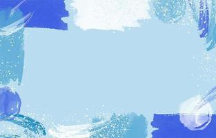 blauwe achtergrond met penseelstreken vector