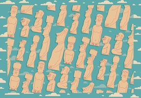 Easter Island achtergrond vector