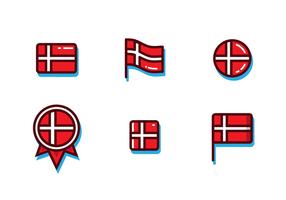 Gratis Deense Vlag Vector