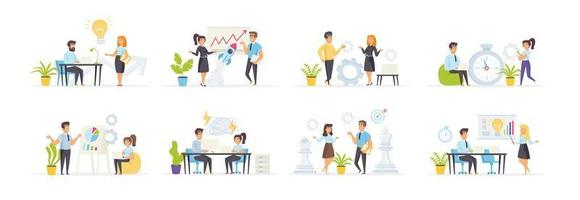 brainstormset met karakters van mensen