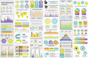 bundel zakelijke infographic elementen
