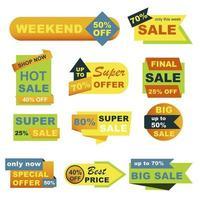 grote verkoop badges set