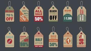 grote verkoop vintage badges set