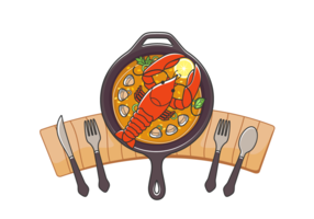 Delicious Lobster Vector Meal
