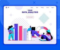 bestemmingspagina-sjabloon voor gegevensanalyse vector