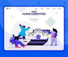 sjabloon voor bestemmingspagina's voor cloud computing vector