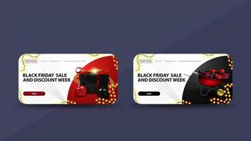zwarte vrijdag verkoop kaartsjablonen vector