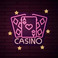 casino neon lichtteken vector