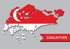 Singapore Kaart vector