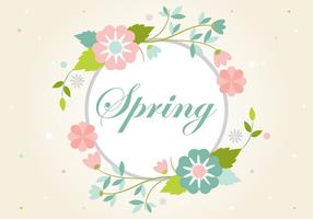 Gratis Vintage Flowers Wreath Backround