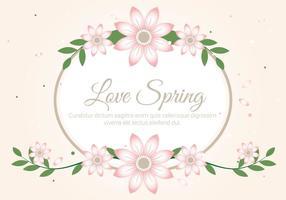 Gratis Spring Season Decoration Vector Achtergrond
