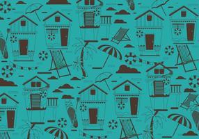 Beach Cabana Pattern Vector