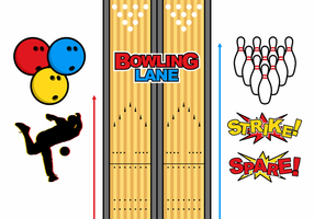 Bowling Lane Gratis Vector
