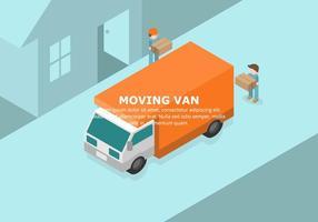 Orange Moving Van Illustratie
