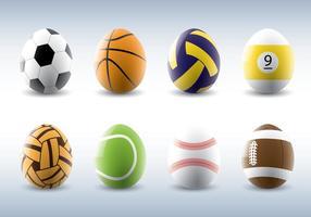 Sportieve Easter Eggs Vectors