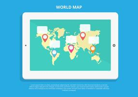 Free World Map Infographic Vector
