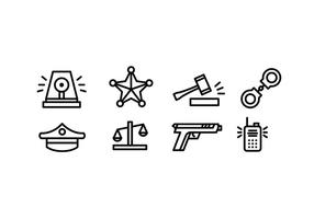 Simple Police Vector Icons
