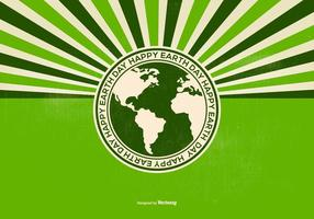 Retro Gelukkige Dag van de Aarde Illustratie vector