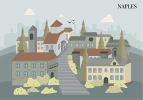 Naples City Italiaanse Bouw Vector Illustration