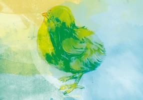 Chick waterverfAchtergrond vector