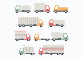 Set Van Trucks vector
