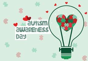 Dag van de Voorlichting van het autisme vector
