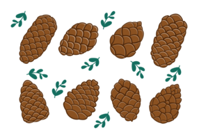 Denneappels Icons Vector