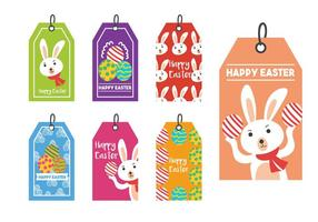 Pasen cadeau-tag vector set