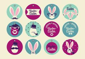 Hipster Easter Tag Vectors