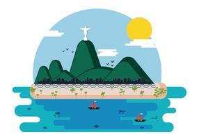 Copacabana Beach Vector Illustration