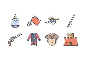 Colonial Icon Set Army