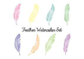 Feather waterverfreeks vector