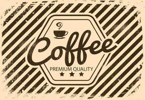 Vinatge Retro Coffee Illustratie