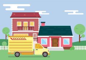 Verhuizen naar nieuwe huis Vector