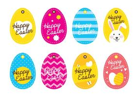 Easter Egg Tag vector