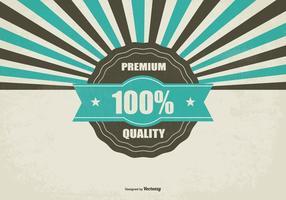 Promotie Retro Premium Quality Achtergrond vector