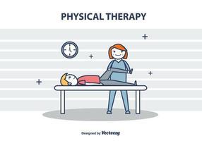 Fysiotherapie Vector Illustration