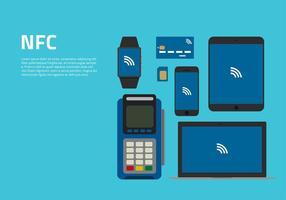 NFC Apparatuur Gratis Vector