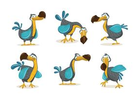 Dodo Bird Illustratie Cartoon Stijl vector