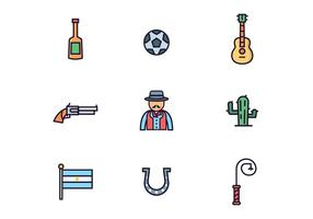 Argentijnse Gaucho Icons vector