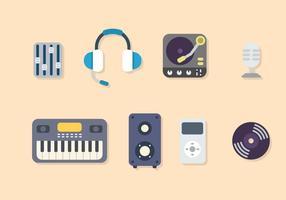 Platte Muziekvectoren