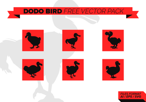 Dodo Bird Silhouettes Gratis Vector Pack