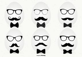 Hipster Style Easter Egg Collection vector
