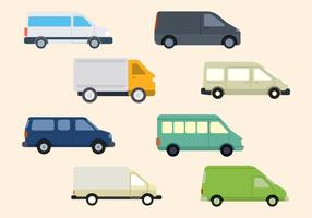 Flat Van Vector Collection