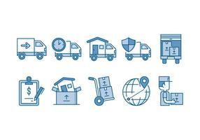 Verhuisservice Icon Set vector