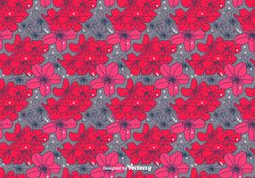Hand Getrokken Rhododendron Vector Pattern