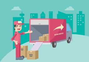 Moving Illustratie van de dienst vector