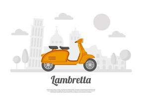 Gratis Lambretta achtergrond vector